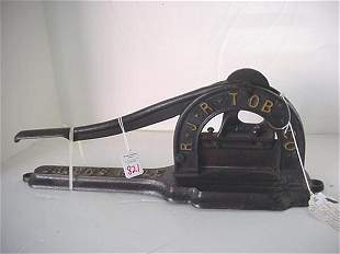 RJ Reynolds Tobacco Cutter: Cast Iron To