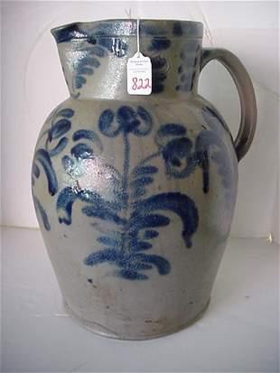 Large Salt Glazed Stoneware Pitcher: 15