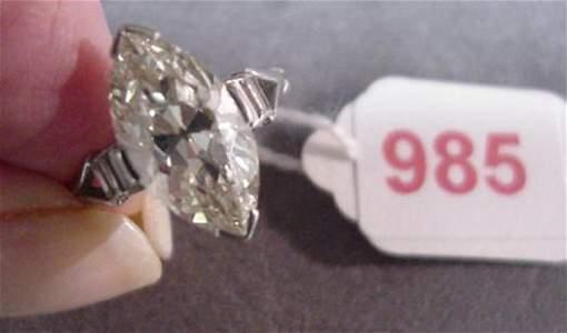 985: 2.5 Plus CT Diamond Solitaire in Platinu