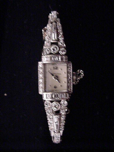 986A: Ladies Hamilton Diamond, Platinum, Gold