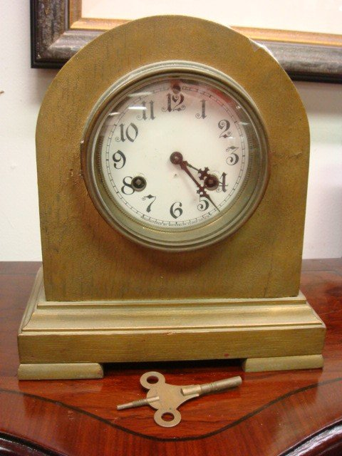 6: WATERBURY Strike and Chime Domed Case Clock: