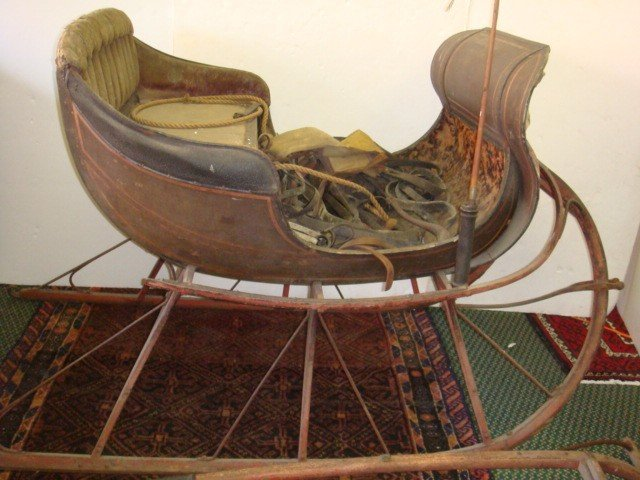 131: Authentic 1880's One Horse Open Sleigh: