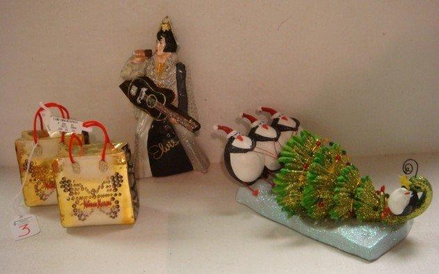 3: POLONAISE Elvis, Neiman Marcus Ornaments, Penguin: