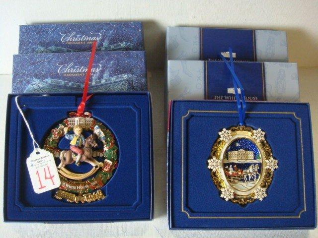 14: Six 2004 & 2003 White House Christmas Ornaments: