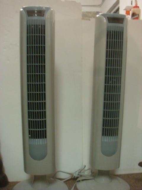 341C: Two ALOHA BREEZE Tower Fans: