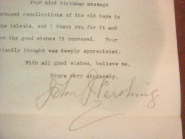 512: JOHN J PERSHING, Personal Letter Signed, 1942: