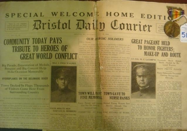 515: Welcome Home Edition 7/19/1919 Bristol Daily Couri