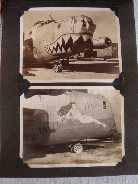 517: Photo Album, 32 Pictures US Air Corps Nose Art