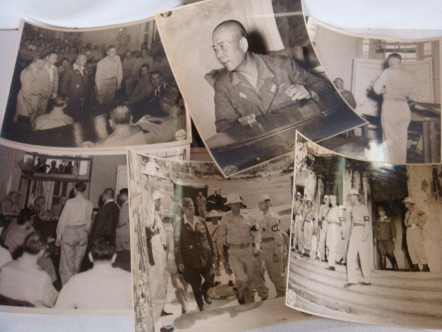 519: 7 B&W 8x10 Photos of Trial of Gen TOMOYUKI YAMASHI