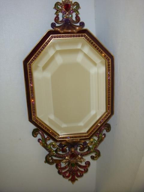 6: Signed JAY STRONGWATER Aurora Octagonal Crown Mirror