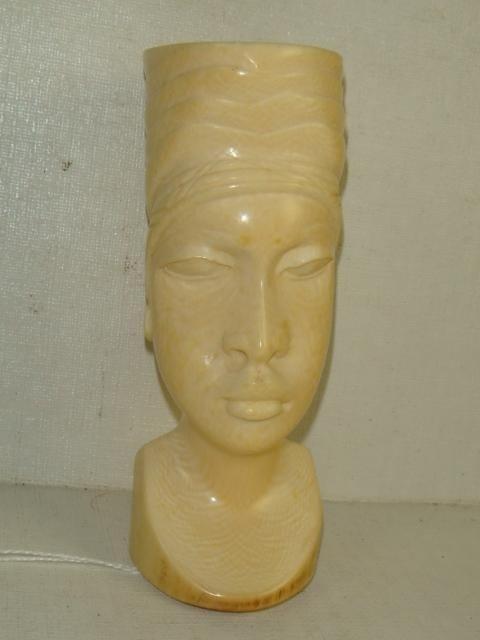 20: Elephant Tusk Ivory 1920's Carved Bust: