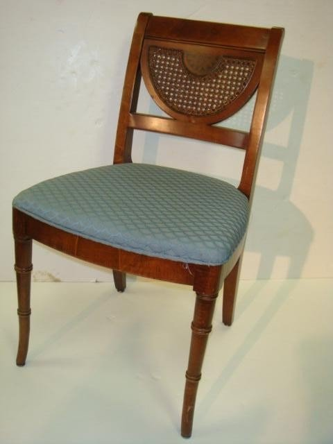 213: 8 Charlotte Chair Company Cane Back Side Chairs: - 2