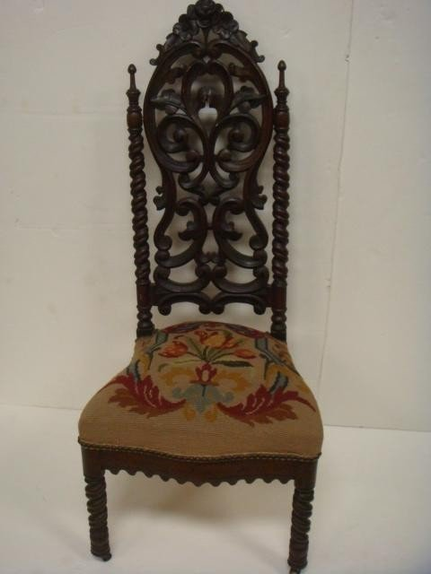 5: 19th C Rococo Revival Ornate Carved Side Chair: