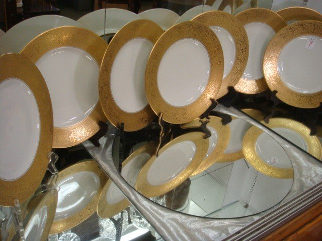 7: Eleven HUTCHEREUTHER Royal Bavarian Service Plates: