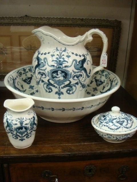 10: Four Piece MINTON Alison Ceramic Wash Bowl Set: