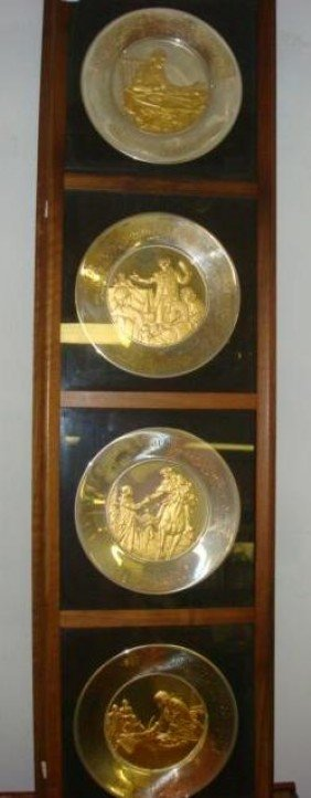 1: Four Sterling Silver Bicentennial Commemorative Plat