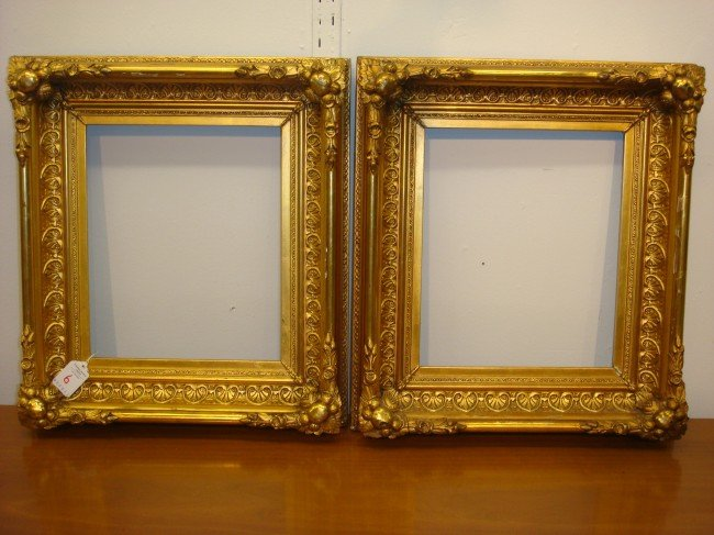 6: Pair of Ornate Gilt Deep Antique Frames: