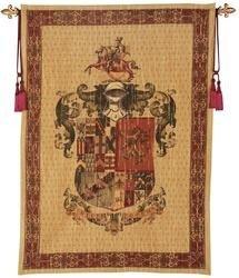 9: VIRTUTE et OPERA Heraldic Tapestry: