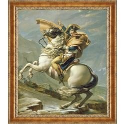 "10: JACQUES-LOUIS DAVID ""Napoleon Crosses the Alps"":"