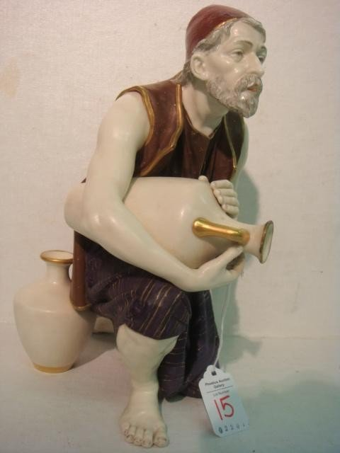 15: 1887 ROYAL WORCESTER Turkish Man Figurine: