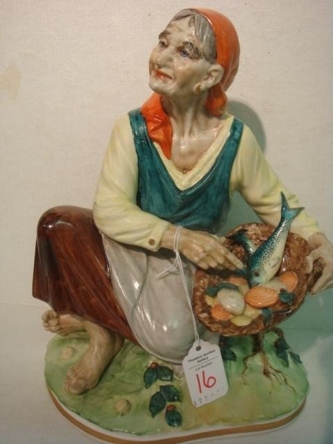 16: SANDIZELL PORCELAIN FACTORY Gypsy Woman Figurine: