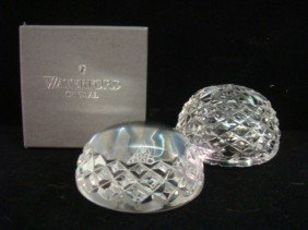 Two WATERFORD Crystal Paperweights: