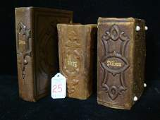 Three Vintage Leather Bound Photo Albums, Pictures