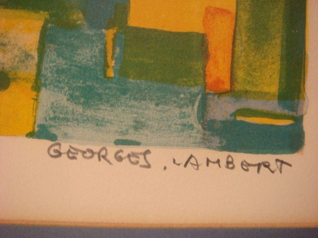 204: Signed GEORGES LAMBERT Limited Edition Lithograph: - 3