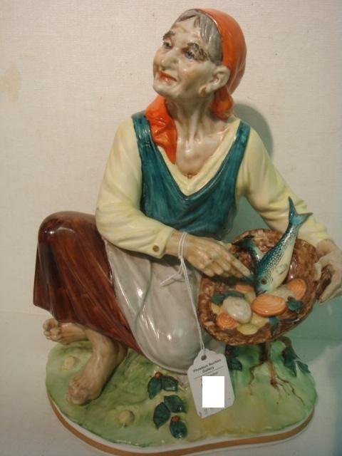 1: SANDIZELL PORCELAIN FACTORY Gypsy Woman Figurine: