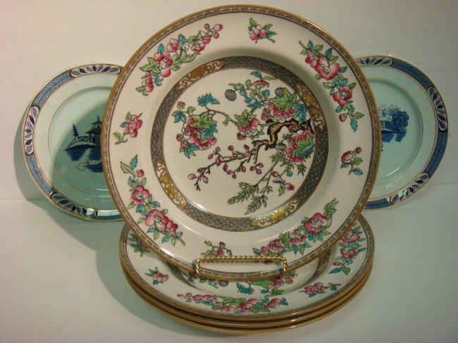 4: Four MINTON Indian Tree Bowls, 2 ADAMS Plates:
