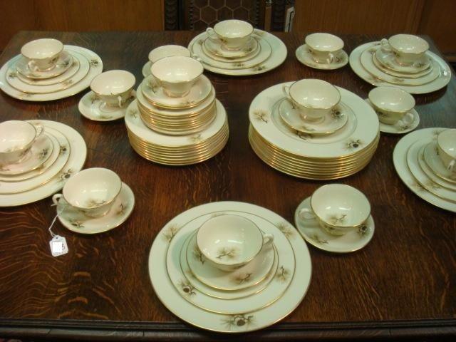 7: Sixty Eight Piece LENOX Pine Pattern Dinnerware: