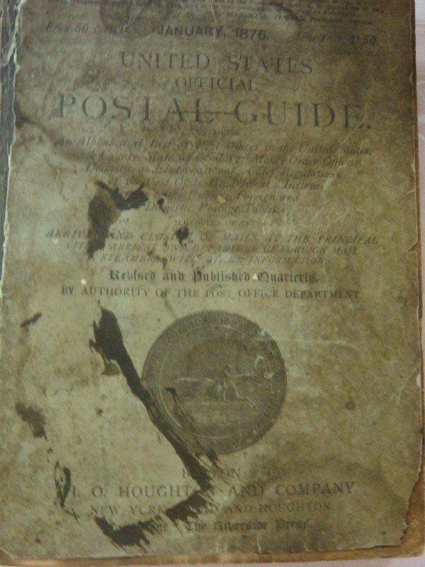 10: JANUARY 1876 US OFFICAL POSTAL GUIDE: