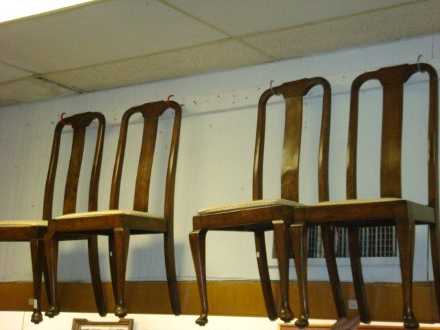 22: Set of Four Queen Anne Dining Chairs: