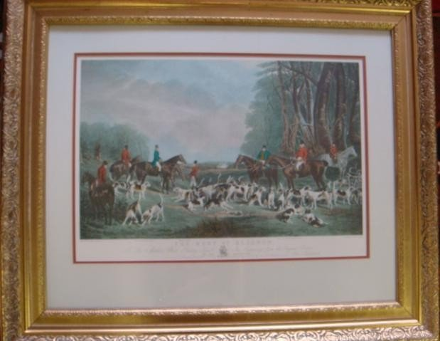 "47: J W SNOW ""The Meet at Blagdon"" Hunt Print:"