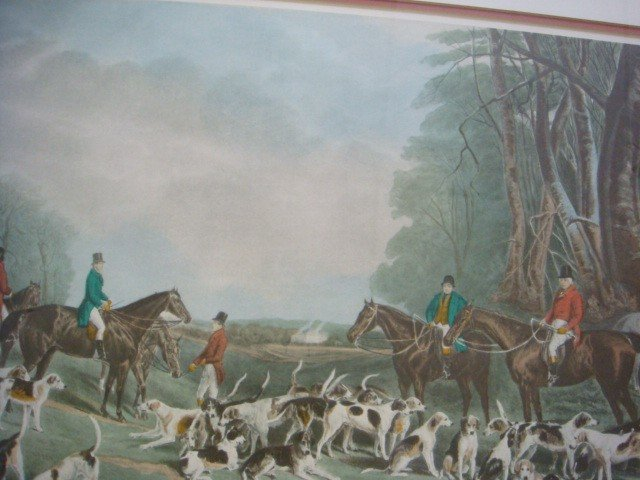 "47: J W SNOW ""The Meet at Blagdon"" Hunt Print: - 2"