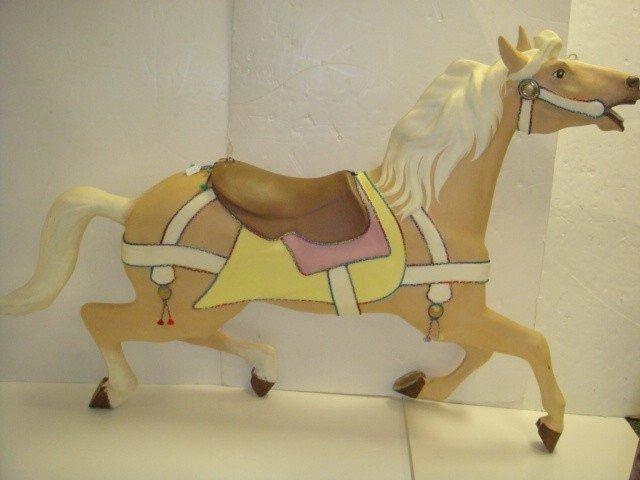 62: Fiberglass Carousel Horse from Seguin, Texas: