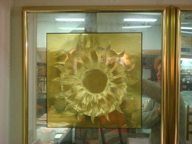 292: Four Framed Optical Illusion Foil Art Pictures: - 2