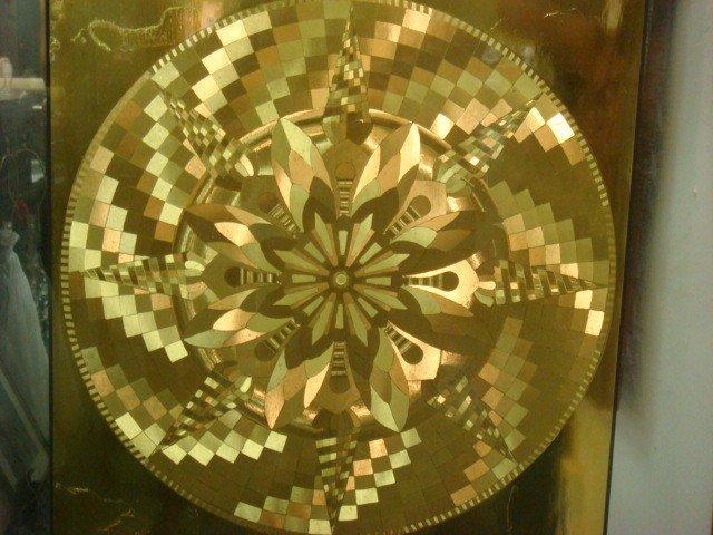 292: Four Framed Optical Illusion Foil Art Pictures: - 4
