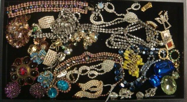 323: Rhinestone and Costume Fashion Jewelry: