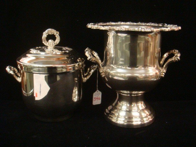 346: ONEIDA Silver-plate Ice and Champagne Buckets: