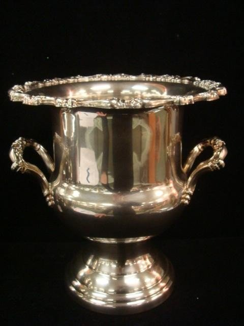 346: ONEIDA Silver-plate Ice and Champagne Buckets: - 2