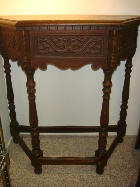 8: Carved Mahogany Console Table: