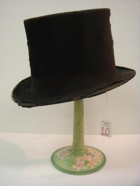 10: WARNER & CO. Man's Top Hat and Stand: