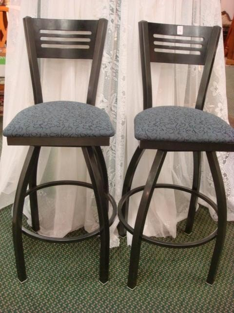 14: Two Contemporary GRAND RAPIDS CHAIR CO. Bar Stools: