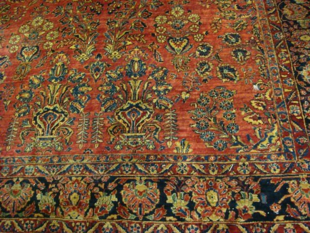 18: Persian Antique Room Size Rug: