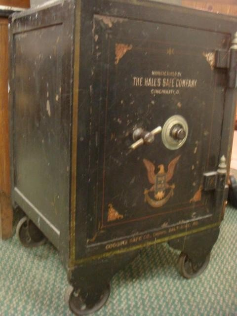 20: HALL's SAFE CO. 1906 Iron Safe with Combination: