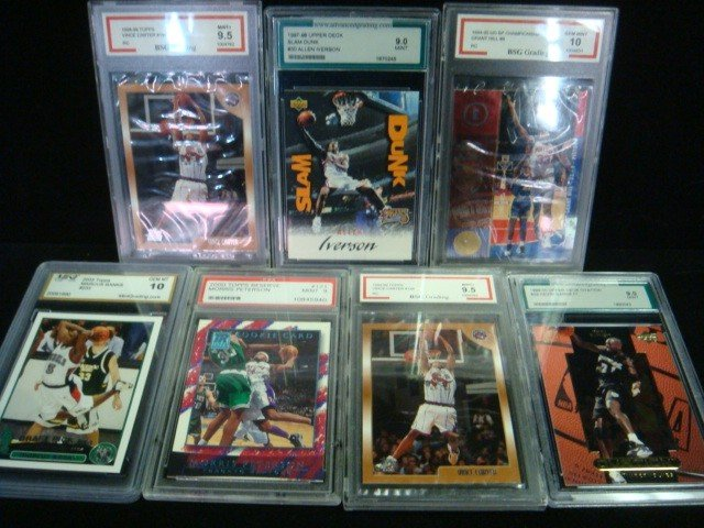 40: 7 Graded Basketball Cards 10 to 9: