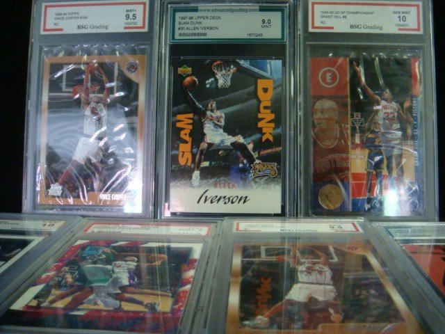 40: 7 Graded Basketball Cards 10 to 9: - 2