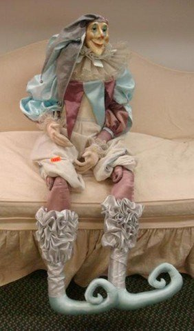 WAYNE E KLESKI Soft Sculpture Jester Doll: