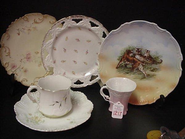 1217: 4 Decorative Plates, Limoges, Germany &